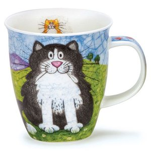 Dunoon Dunoon Nevis Happy Cats Black/White Mug