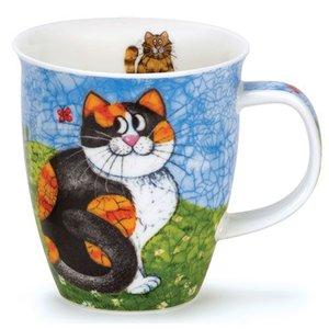 Dunoon Dunoon Nevis Happy Cats Tortoise Mug