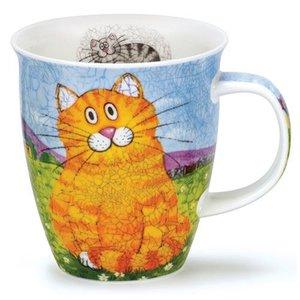Dunoon Dunoon Nevis Happy Cats Mug - Orange