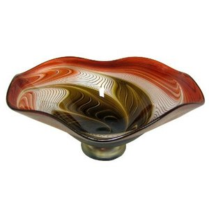 Okra Glass Ripple Bowl