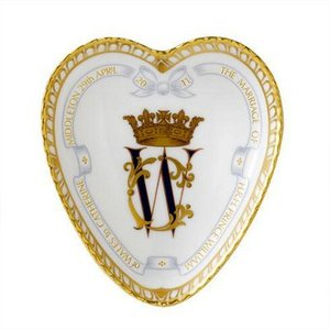 Royal Crown Derby Wedding W.C Heart Tray