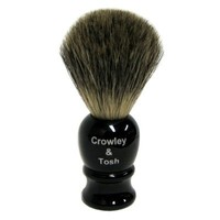 Crowley & Tosh Pure Badger Shaving Brush - Imitation Ebony