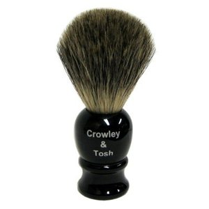 Crowley & Tosh Crowley & Tosh Pure Badger Shaving Brush - Imitation Ebony