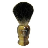 Crowley & Tosh Black Badger Shaving Brush - Horn