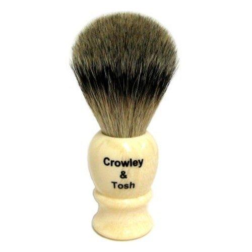 Crowley & Tosh ab15i Crowley & Tosh Best Badger Shaving Brush - Imitation Ivory