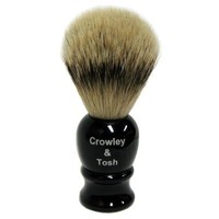 Crowley & Tosh Silver Tip Badger Shaving Brush - Imitation Ebony