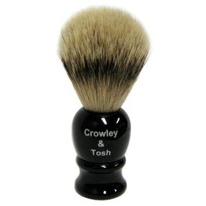 Crowley & Tosh Crowley & Tosh Silver Tip Badger Shaving Brush - Imitation Ebony