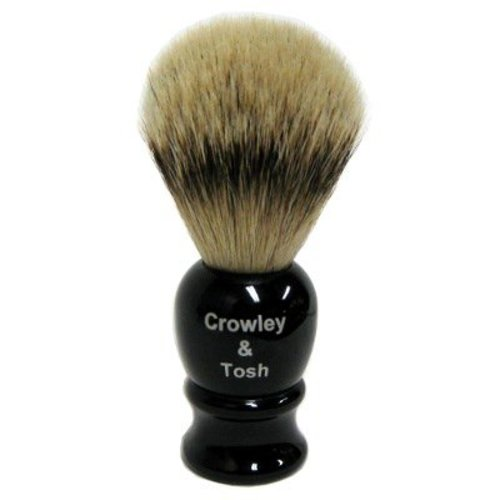 Crowley & Tosh Crowley & Tosh Silver Tip Badger Shaving Brush - Imitation Ebony