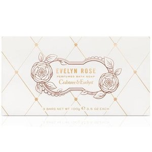 Crabtree & Evelyn C&E Evelyn Rose Triple Milled Soap - Set of 3