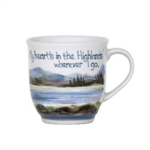 Highland Stoneware Highland Stoneware Heart in Highlands 425 Mug