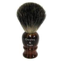 Crowley & Tosh Pure Badger Shaving Brush - Horn