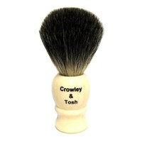 Crowley & Tosh Pure Badger Shaving Brush - Imitation Ivory