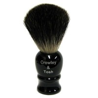 Crowley & Tosh Black Badger Shaving Brush - Imitation Ebony