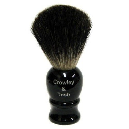 Crowley & Tosh Crowley & Tosh Black Badger Shaving Brush - Imitation Ebony