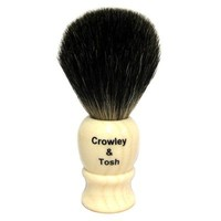 Crowley & Tosh Black Badger Shaving Brush - Imitation Ivory
