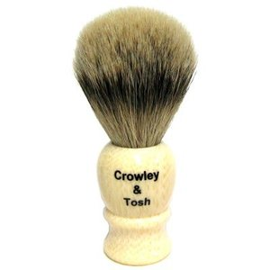 Crowley & Tosh Crowley & Tosh Silvertip Badger Shaving Brush - Imitation Ivory