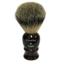 Crowley & Tosh Best Badger Shaving Brush - Horn