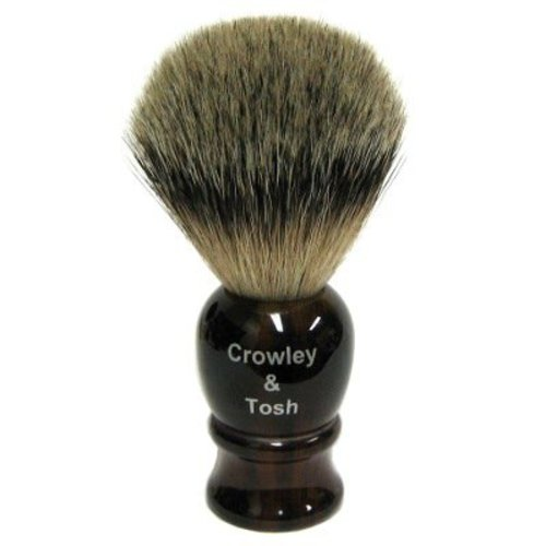 Crowley & Tosh ab15h Crowley & Tosh Best Badger Shaving Brush - Horn