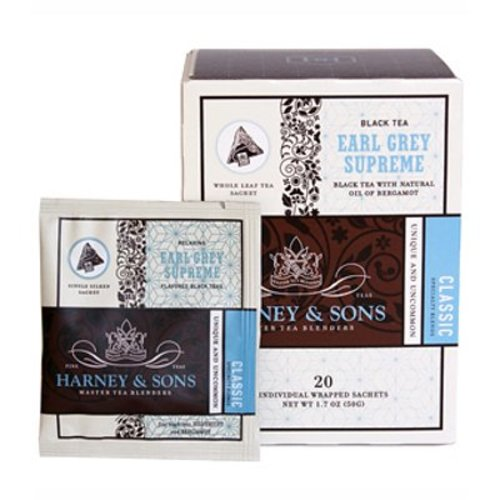 Harney & Sons Harney & Sons Earl Grey Supreme Box of 20 Wrapped Sachets