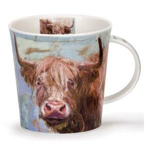 Dunoon Cairngorm Animals on Canvas Highland Cow Mug