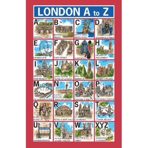 Ulster Weavers Ulster Weavers London A to Z Tea Towel