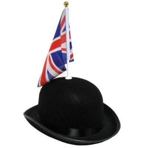 Great British Bowler Hat with Flag
