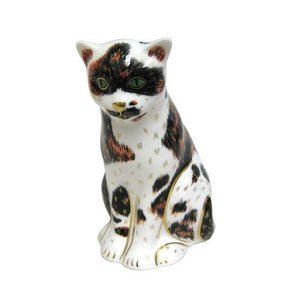 Royal Crown Derby Mother Cat Calico