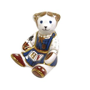 Royal Crown Derby School Girl Teddy - Retired