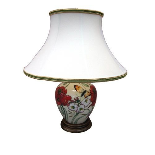 Moorcroft Pottery Moorcroft Butterfly Collection Lamp with Shade