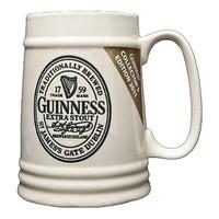 Guinness Collector's Edition Cream Ceramic Tankard