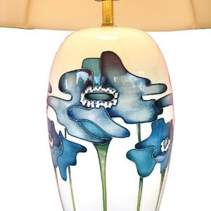 Moorcroft Pottery Blue Heaven Lamp with Shade