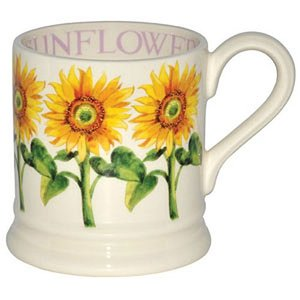 Emma Bridgewater 1/2 Pint Flowers Mug - Sunflower
