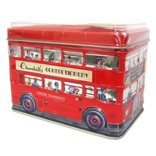 Churchills English Toffees Double-Decker Bus Tin
