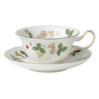 Wedgwood Wild Strawberry Teacup and Saucer