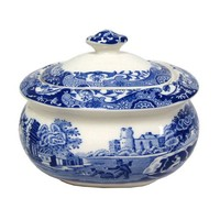 Spode Blue Italian Covered Sugar