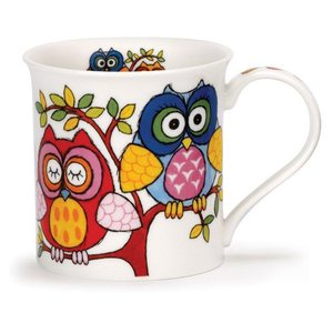 Dunoon Dunoon Bute Life's a Hoot Mug - Blue / Red