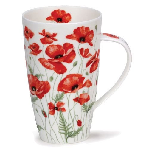Dunoon Dunoon Henley Red Poppies Mug