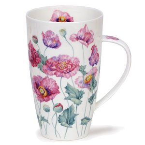 Dunoon Henley Pink Poppies Mug