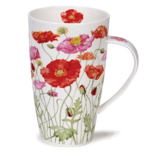 Dunoon Henley Pink/Red Mixed Poppies Mug