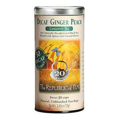 Republic of Tea Decaf Ginger Peach Black Tea