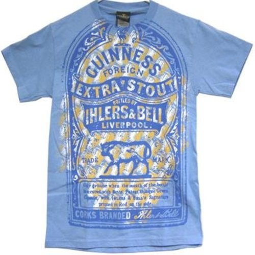 Guinness Blue, Cream, White T-Shirt Size S