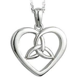 Solvar Solvar Silver Heart & Trinity Knot Pendant