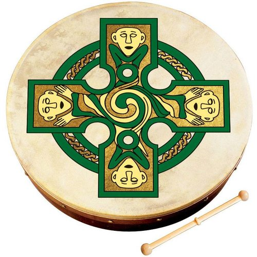 Walton's Waltons Gallen Cross Bodhran - 12 in.
