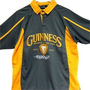 Guinness Gold & Grey Jersey Polo shirt
