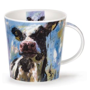 Dunoon Cairngorm Animals on Canvas Dairy Cow Mug