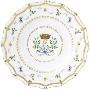 Royal Crown Derby Royal Crown Derby Royal Baby 2013 Gadroon Plate