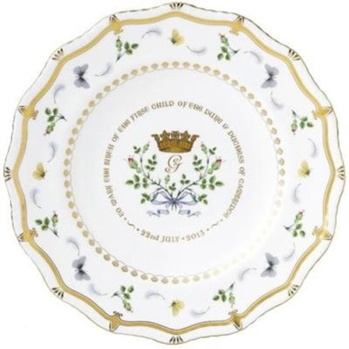 Royal Crown Derby Royal Baby 2013 Gadroon Plate