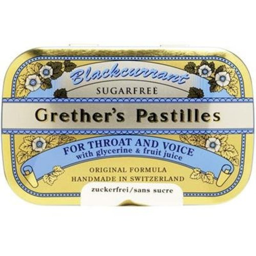Grethers Blackcurrant Pastilles - Sugar Free