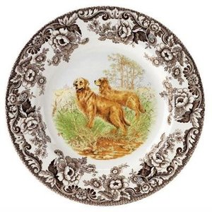 Spode Woodland Dinner Plate - Golden Retriever