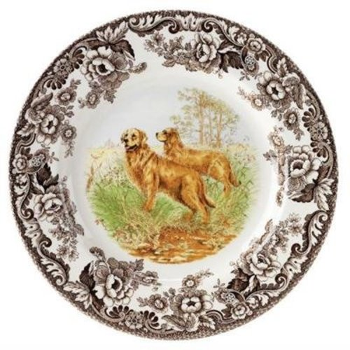 Spode Spode Woodland 27 cm Dinner Plate Golden Retriever